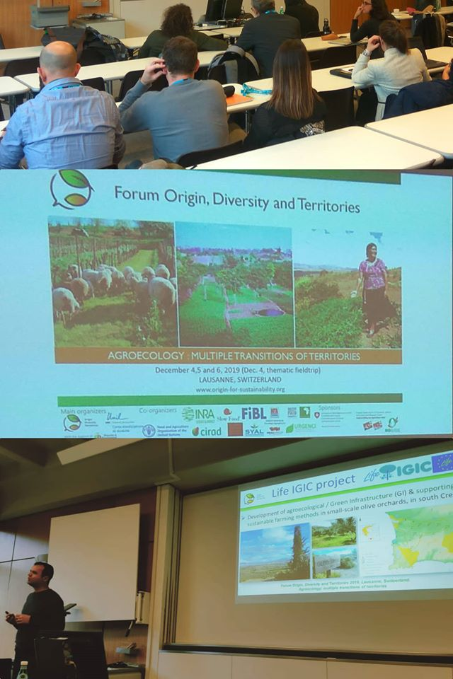 Life IGIC project in the Forum Origin, Diversity & Territories, in Lausanne, Switzerland